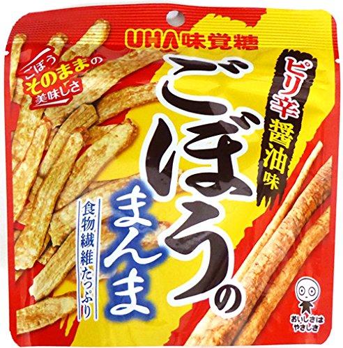 UHA味覚糖 ごぼうのまんま ピリ辛醤油味 17g×6袋