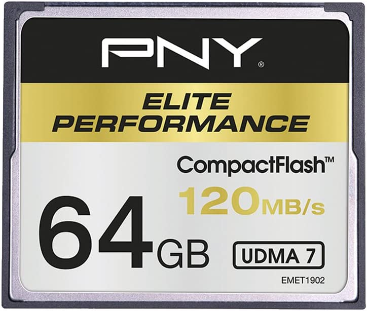 PNY CF Elite Performance Memoria Flash 64 GB CompactFlash - Tarjeta de Memoria (64 GB, CompactFlash, 100 MB/s)