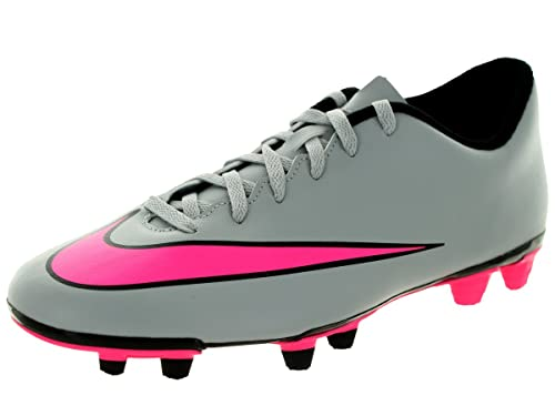 Nike Men's Mercurial Vortex II FG Football Boots, Gris/Rosa/Black (Wolf