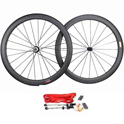 Carbon Road Bike Amazon Com >> Amazon Com Road Bike Wheel Set 50mm Clincher Carbon Fiber Matte