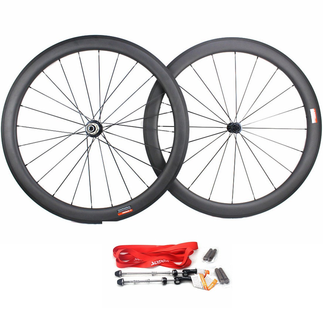 Road Bike Wheel set 50mm Clincher Carbon Fiber Matte 25mm Width For Shimano or Sram 10/11 Speed 700C Wheels