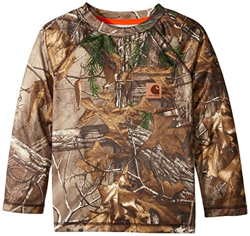 Carhartt Little Boys' Force Camo Raglan Tee, Realtree Xtra, - Youth Hunting Clothes
