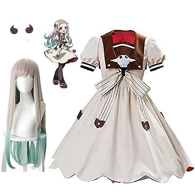 YMHQ Yashiro Nene Costume Dress+Yashiro Nene Wig+2 Clips, Anime Toilet Bound Hanako Kun Cosplay Full Set: Clothing