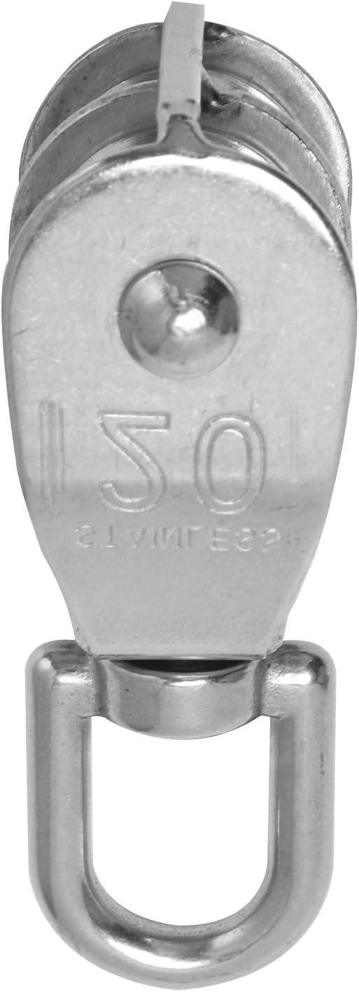 cavo per bottiglia. WOVELOT 20 mm od.Acciaio inossidabile metallo dual puleggia fune avvolgicavo