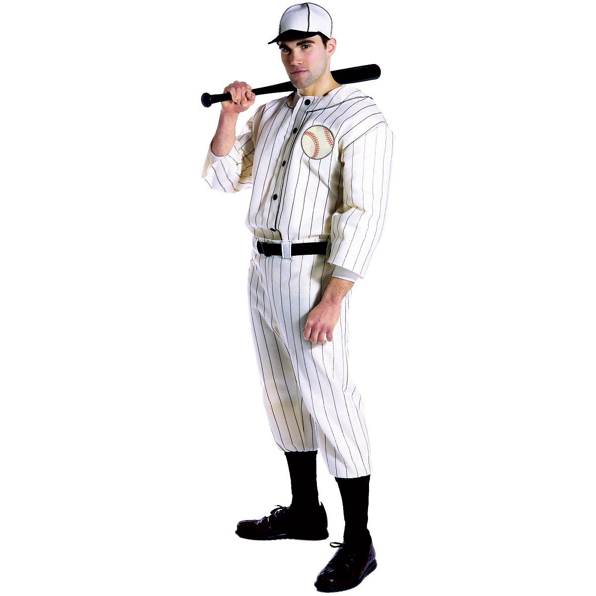 50s Costumes | 50s Halloween Costumes Rasta Imposta Old TYME Baseball Player Adult Costume- $38.12 AT vintagedancer.com