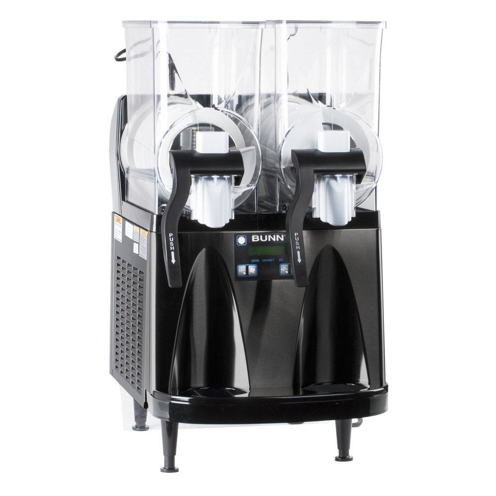 Bunn Ultra-2 HP Slushy/Granita Frozen Drink Machine with 2 Hoppers and Flat Lid - Black 120V (Bunn 34000.0013)
