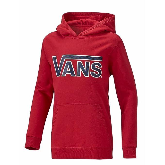 Sudadera capucha Vans - Classic Pullover Hoodie Boys rojo talla: 152 a 164 cm altura - de 12 a 14 años: Amazon.es: Ropa y accesorios