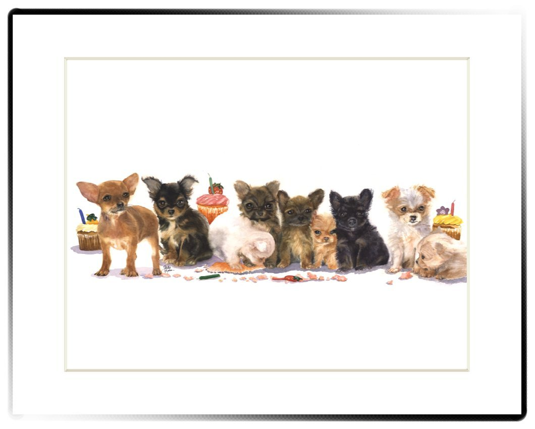 Rainbow Card Company Matted Print, 28cm by 36cm Churro and The Gang