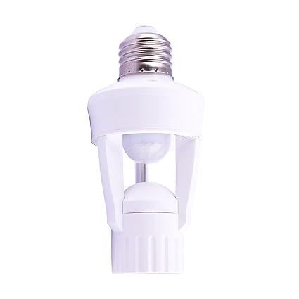 Mengshen E27 Luz de Sensor de Movimiento Infrarrojo/Bombilla/LED/ Portalámpara, Encendido