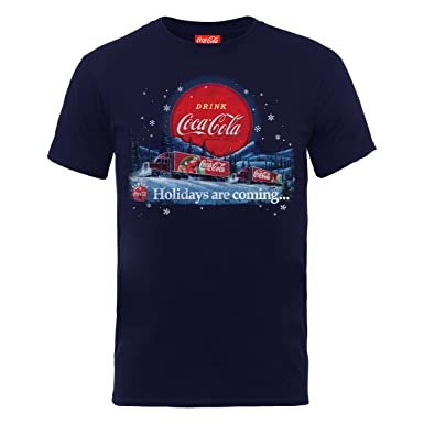 55988cad4499b7 Image Unavailable. Image not available for. Colour: Coca Cola Official  Christmas Trucks, Men's T-Shirt