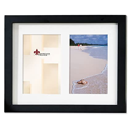 Amazon.com - Lawrence Frames Black Wood Double 5 by 7 Matted Picture ...