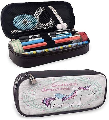 Estuche de lápices de colores Sweet Dreams Cute Magic Small Pencil Bag Superficie lisa: Amazon.es: Oficina y papelería