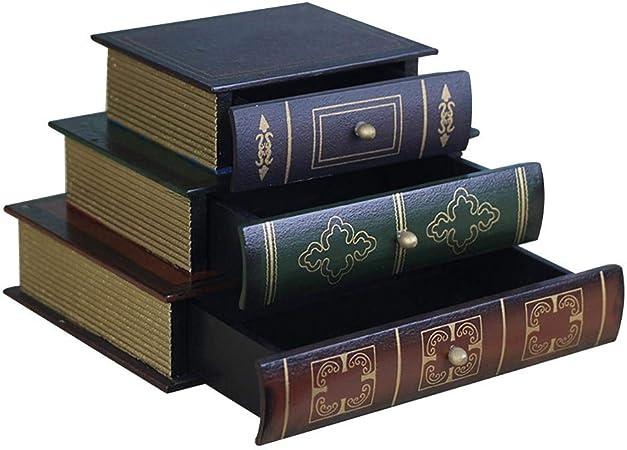 Lifesongs Bo/îte De Rangement Europ/éenne Faux Livre De Simulation De Livre R/étro Bureau Livre Mod/èle Photo Livre