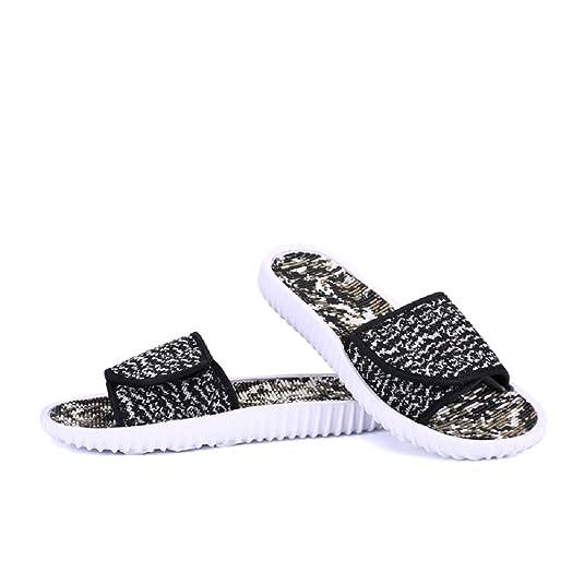 FOBEY Leisure Mens Fashion Beach Shoes Non-Slip Sandals (UK9.5, Black):  Amazon.co.uk: Shoes & Bags