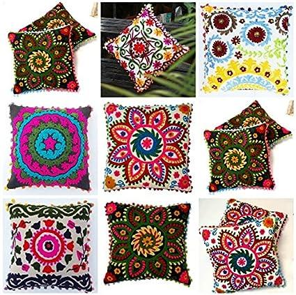 Amazon Com Diyana Impex 5 Pc Wholesale Lot Suzani Cushion Cover