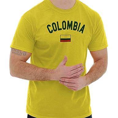 970b0af2c2f Colombia Flag Athletic Soccer Colombian National Flag Pride T-Shirt ...