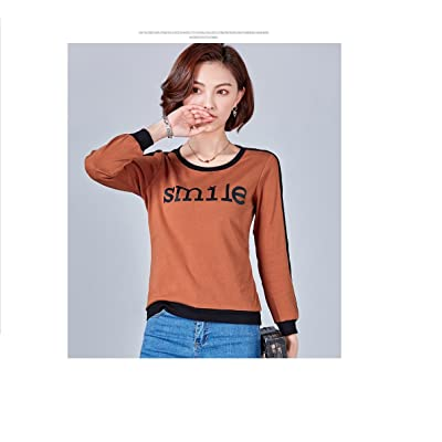 2018 Spring New Printing T-shirt Casual Jacket Women's Long Sleeve Loose Bottoming Shirt Women