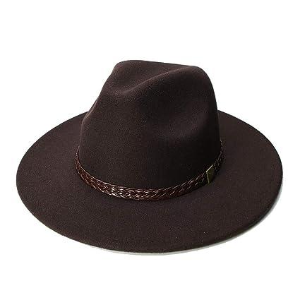Sombrero de Lana Jazz Sombreros de ala Grande Fieltro Cloche Vaquero Panamá Fedora Sombrero para Mujer