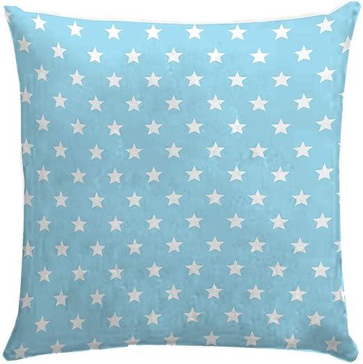 Martina Home Candy Star Funda de Cojín, Tela, Azul, 40 x 40 cm