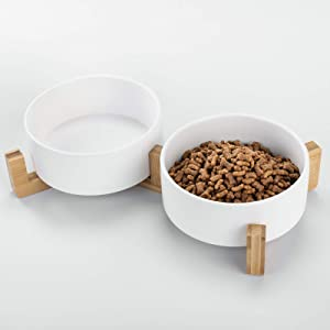 Ihoming Dog Bowl | Food Water Dish for Dogs and Cats, Ceramic Pet Bowl for Food & Water
