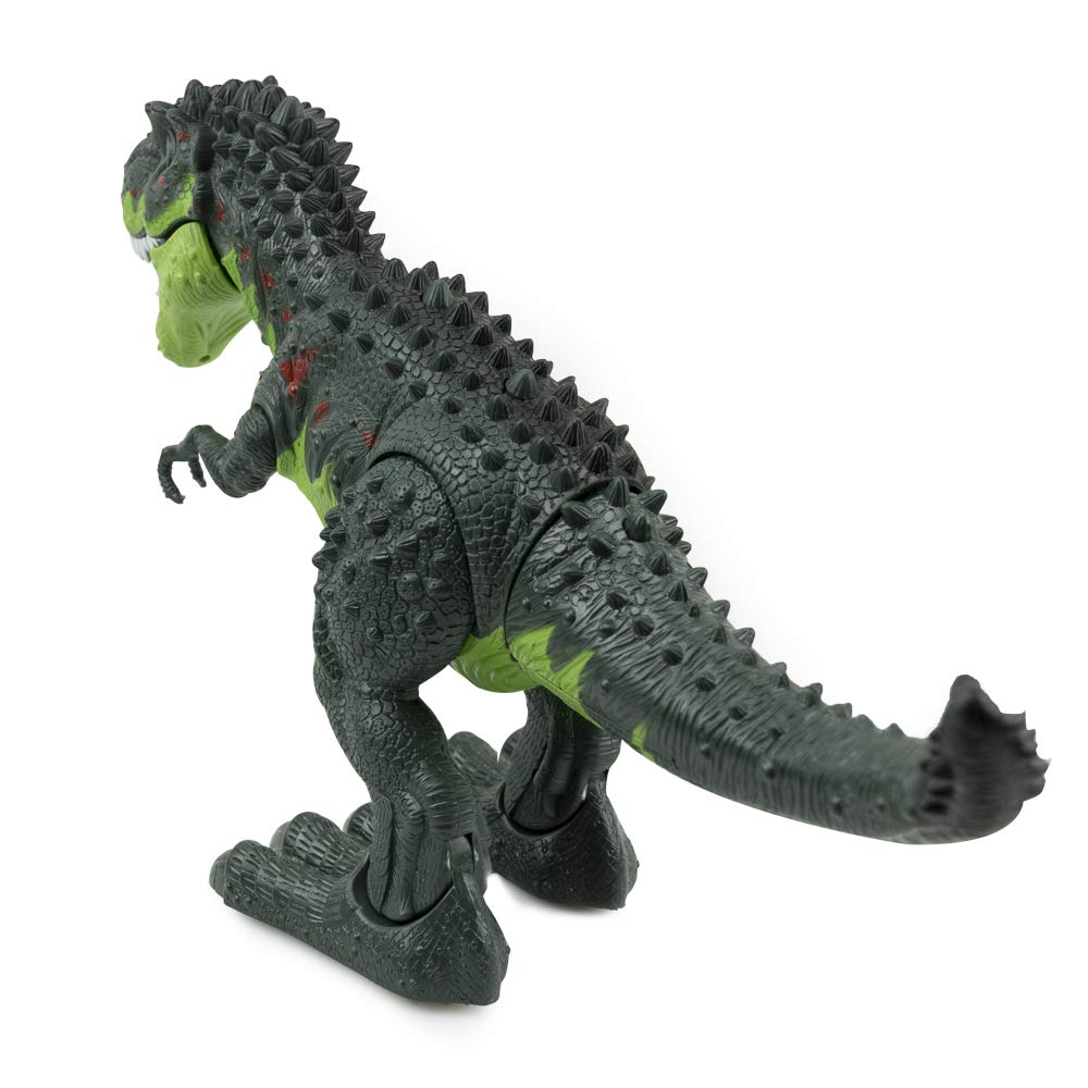 WonderPlay Walking Dinosaur T-Rex Toy Figure with Lights and Sounds Realistic Tyrannosaurus Dinosaur Toys for Kids Battery Operated Green by WonderPlay (Image #2)