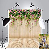 Kate 5x7ft Spring Photography Backdrops Flower Wooden Wall Photo Background Photography Props