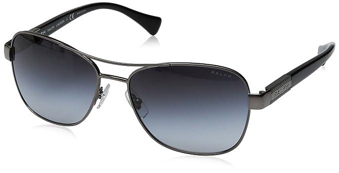 RALPH Womens 0RA4119 3210T3 Sunglasses, Silver/Bluee Horn/Greygradientpolarized, 57 Ralph Lauren