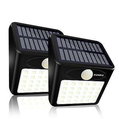 2 Pcs 30 Led Lampe Solaire Exterieur Jardin Kungix Eclairage