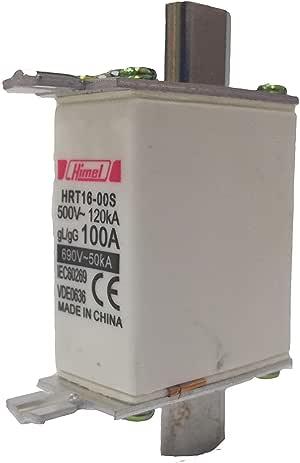 صمام كهربائي NH00 - HRC Fuse 100A 500V 120kA - هيميل فيوز - HRT16000S100