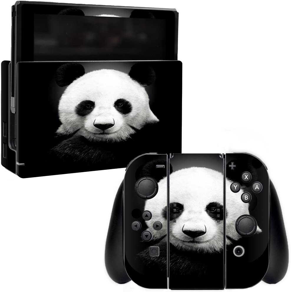 MightySkins Skin Compatible with Nintendo Switch - Panda   Protective, Durable, and Unique Vinyl Decal wrap Cover   Easy to Apply, Remove, and Change Styles   Made in The USA