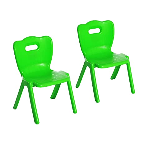 Qaba Plastic Stackable Plastic Kids School Chairs (Green)  sc 1 st  Amazon.com & Amazon.com: Qaba Plastic Stackable Plastic Kids School Chairs (Green ...