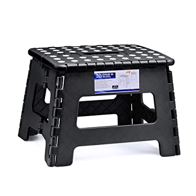 ACSTEP Acko Folding Step Stool for Kids 9Inch Tall 11Inch Wide Foldable Step Stool Black: Kitchen & Dining