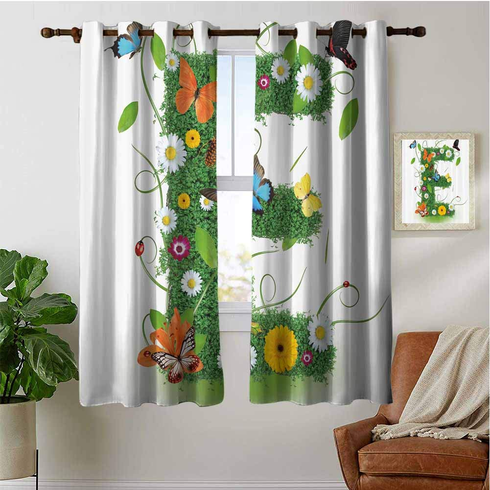 PRUNUSHOME Wild Pasture Theme Ultra Soft Kitchen Curtains, Window Curtain Tiers for Cafe, Bath, Laundry, Bedroom(Set of 2 Panels,42 by 45 Inch) by PRUNUSHOME