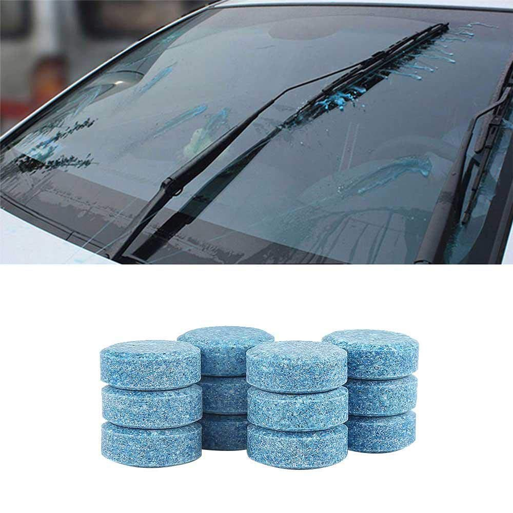 Amazon.com: AOLVO 5pcs Effervescent Cleaning Tablets for Car Windshield Clean/Window Glass Wash, Car Glass Cleaner Wiper Cleaner, 1pcs=4L Washer Fluid: ...