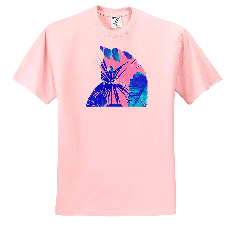 ts/_309344 3dRose Cassie Peters Cats Botanical Cat Adult T-Shirt XL