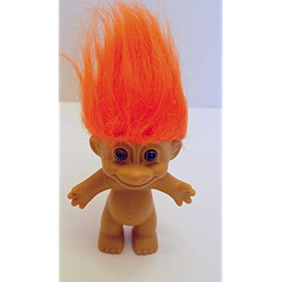Russ Berrie Vintage Troll Doll Orange Haired 4.5 Inches: Everything Else