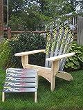 Snow Ski Adirondack Chair & Ottoman (Blizzard Tequila)