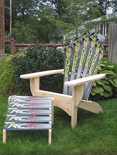 Snow Ski Adirondack Chair & Ottoman (Peace Glide)