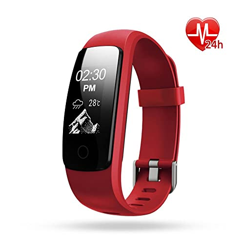 Lintelek Activity Tracker, IP67 Waterproof Fitness Tracker Watch with Heart Rate Monitor, Step Counter Watch Stopwatch with 14 Sports Mode/Connected GPS/Relax, Bluetooth Pedometer
