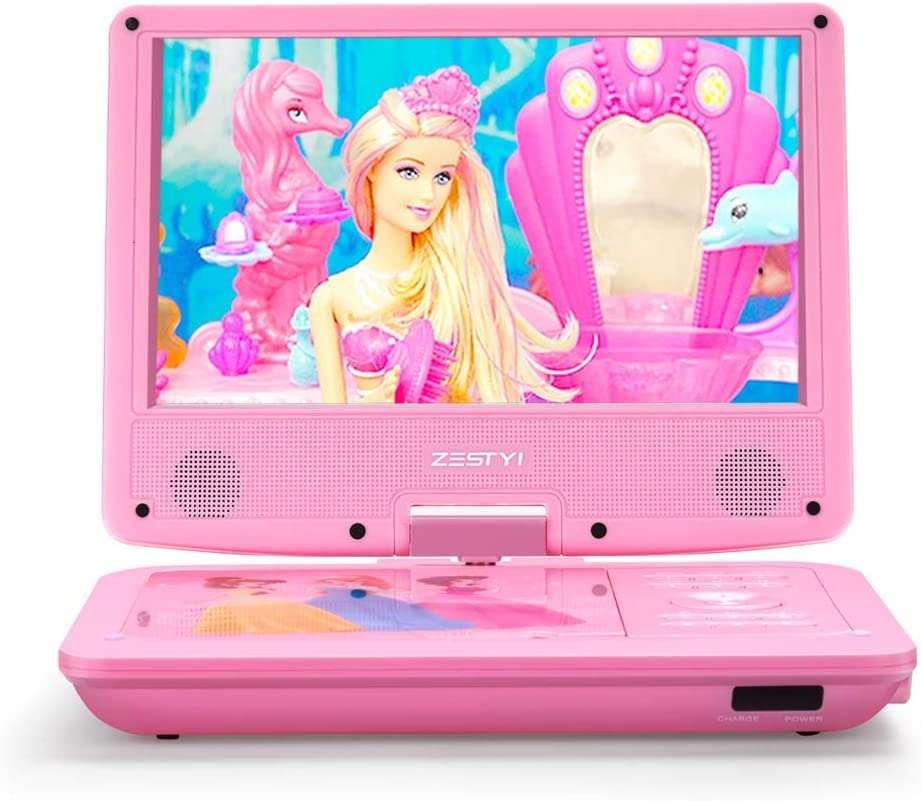 """ZESTYI 11"""" Portable DVD Player for Kids with 9"""" Swivel Screen, Car Headrest Mount Holde"""