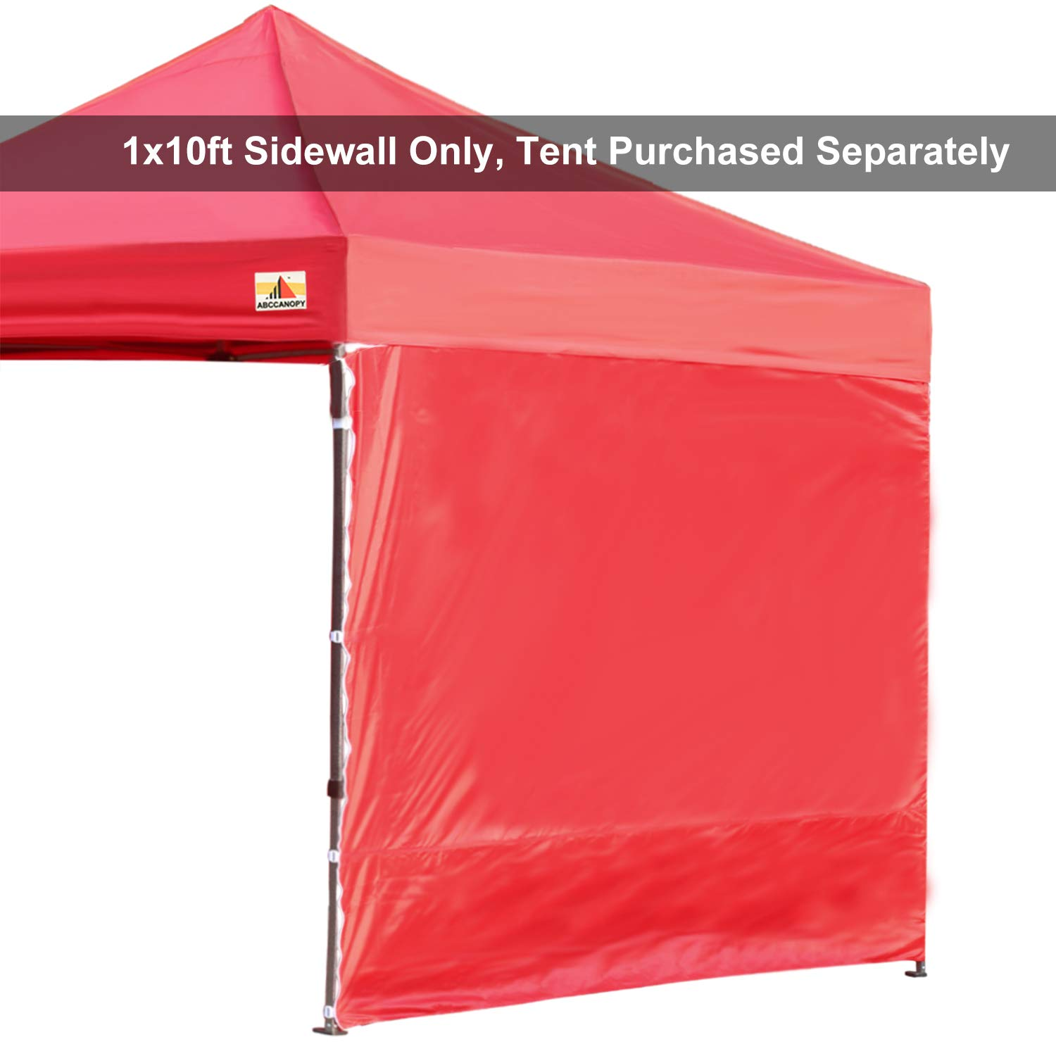 ABCCANOPY 15+Colors 10' Sun Wall for 10'x 10' Straight Leg pop up Canopy, 10' Sidewall kit (1 Panel) with Truss Straps (Red) by ABCCANOPY