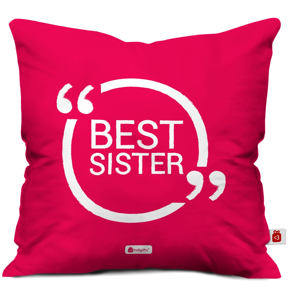 Amazon.com: Indigifts Sister Gifts - Best Sister Quote Pink 16\