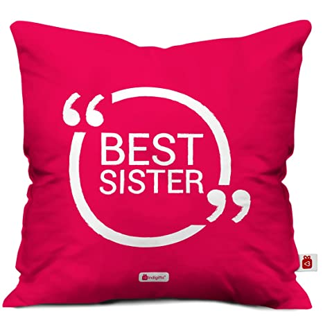 Amazoncom Indigifts Sister Gifts Best Sister Quote Pink 16x16