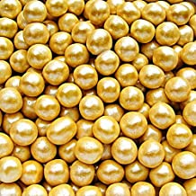 Natural Color Gold Dragees Edible Pearls 6mm cake cupcake decorations