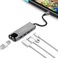 innoAura Adaptateur Multiport de Type C pour Nintendo Switch Station Dock USB C avec Convertisseur 4 K HDMI, Port de Charge USB-C PD, Gigabit Ethernet, 2 Ports USB 3.0 pour Nintendo Switch.