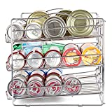 Can Rack Organizer, EZOWare 3-Tier Canned Goods/Bottle Food Kitchen Rack Organizer For for Pantry Shelf, Kitchen Cabinet, Countertop, Chrome
