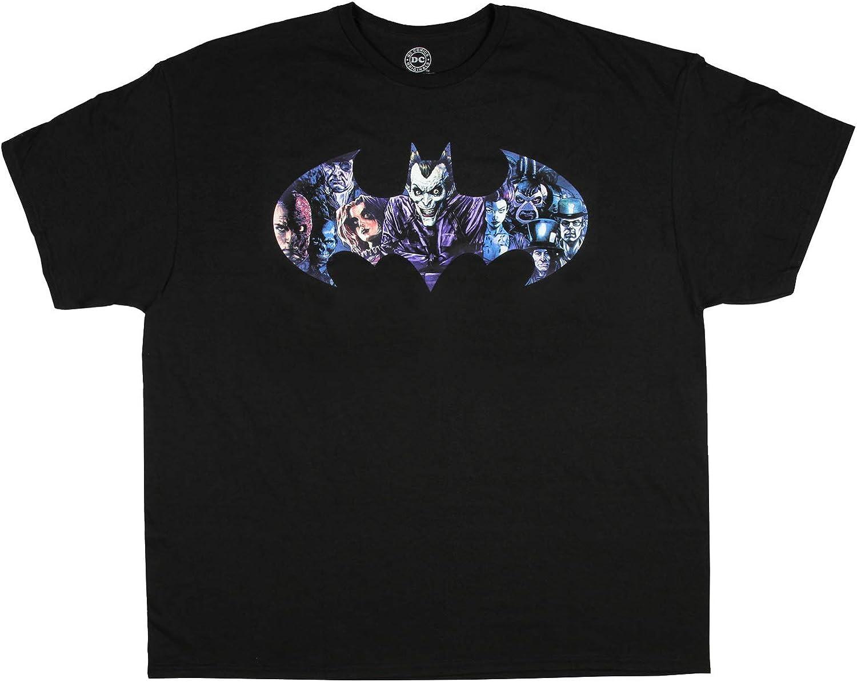 Batman Camiseta Joker y Villanos Logo de Bat infestación Mens T-Camisa (3XL): Amazon.es: Ropa y accesorios