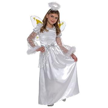Crèche de Noël Ange de Noël Déguisement pour Fille Enfant Noël Fancy Dress  Party Blanc Robe 9ad17918269f