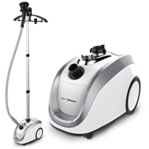 Full Size Steamer for Clothes, Garments and Fabrics - Official Partner of Fashion - Professional Heavy Duty - 4 Steam Levels Producing Perfect Continuous Steam Every Time
