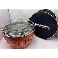 Grill Lotusgrill silber klein Edelstahl Stahl Kunststoff Grill günstig kaufen Balkon Camping Picknick ✔ rund ✔ tragbar rauchfrei ✔ Grillen mit Holzkohle ✔ für den Tisch